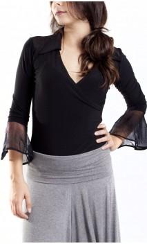 Collar Rocio Top w/ Tule Details