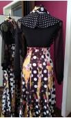 Printed Diamonds Long-Skirt w/Scarf Set