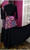 Black w/Floral Skirt & Jacket Set