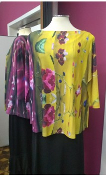 Blusa Amarela Floral