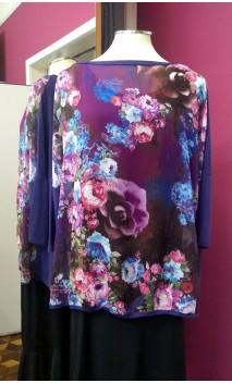 Blusa Uva c/ Chiffon Floral