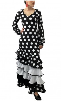 Carmen Polka-dots Long-Dress