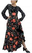 Printed Nora Godet Long Dress