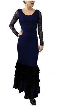 Lydia Lace & Velvet Dress