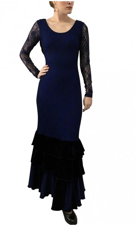 Vestido Lydia Encajes c/Terciopelo