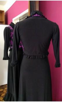 Mini-Blazer Preto c/Violeta