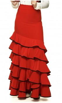 Colors Cádiz 6 Ruffles Long-Skirt