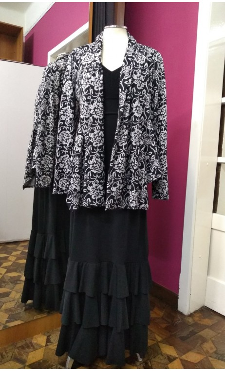 Printed Knitted coat