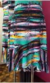 Printed Short-Dress w/Ruffle