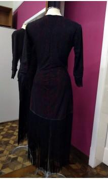 Vestido Curto de Renda c/Franja