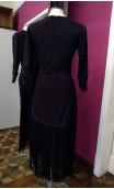 Vestido Corto de Encajes c/Flecos