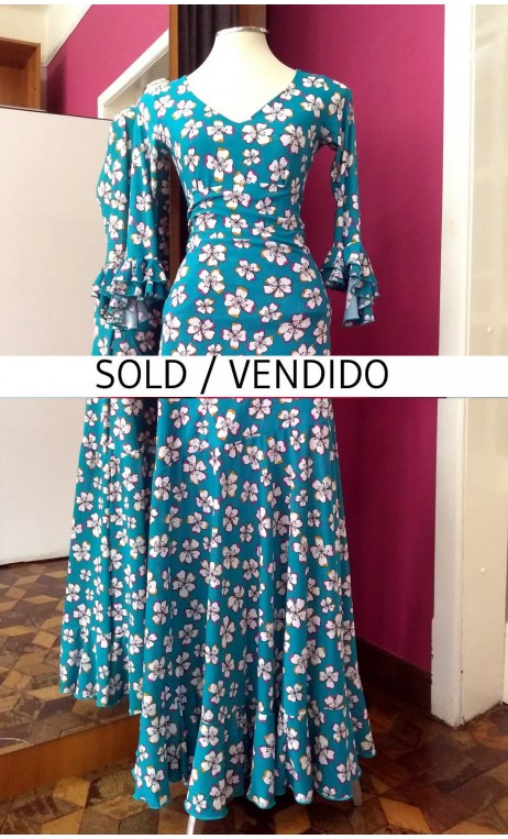 Floral Turquoise Skirt & Top Set