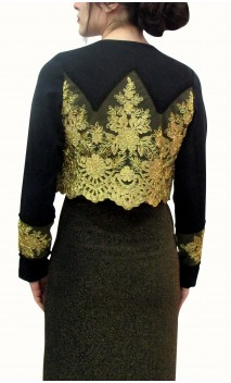 Villamarta Torera Jacket w/ Embroidered Lace