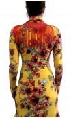 Printed Candida Long Sleeves Long-Dress 5 Ruffles