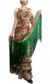 Printed Maura Long Dress & Scarf Set