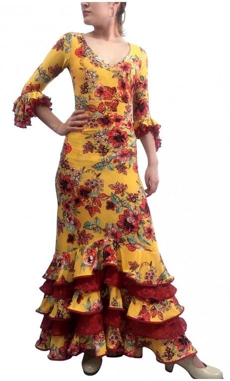 Conjunto Mary Falda & Blusa Floral c/Encajes