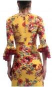Conjunto Mary Saia e Blusa Floral c/Renda