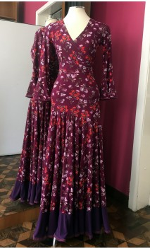 Floral Purple Skirt & Top Set