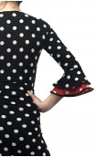 Polka-dots Top & Extra Godet Long-Skirt Set