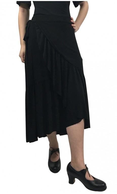 Sophie Wrapover Mid-Skirt