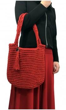 Bolsa de Crochet Vermelha