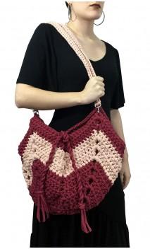 Bolso en Crochet Rosa