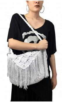 Bolso en Crochet Blanca