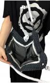 Grey & White Crochet Bag