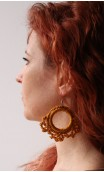 Black Shawl & Gold Earring Set