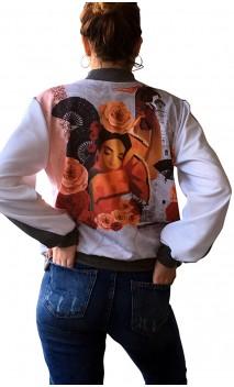 Jaqueta Estampada Castanhola