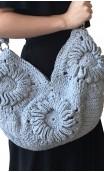 Bolso en Crochet Gris