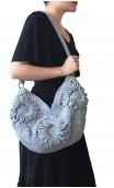 Bolsa de Crochet Cinza