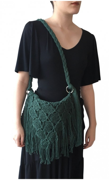 Bolso en Crochet Verde