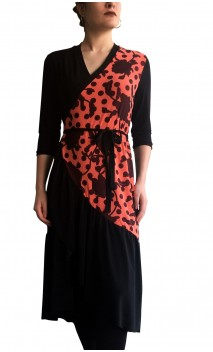 Sophie Wrap Over Midi-Dress