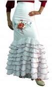 Embroidered Santa Rosa Long-skirt 8 Ruffles