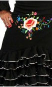 Embroidered Santa Rosa Long-skirt 8 Ruffles