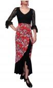 Agnes 1 Ruffle Printed Skirt