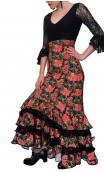 Printed Mary Collin Long-Skirt w/ Lace