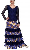 Printed Long-Skirt & Top Set w/Lace