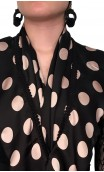 Polka-dots Scarf w/Ruffle