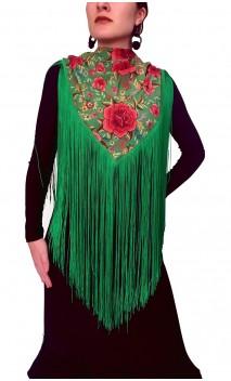 Floral Printed Shawl w/Fringe