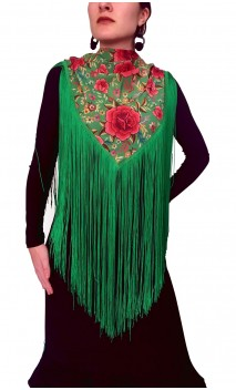 Mantoncillo Floral con flecos 50 cm