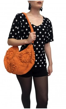 Orange Crochet Bag