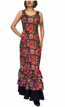 Penelope Flamenco Long-Dress 3 Ruffles