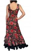 Penelope Flamenco Long-Dress 3 Ruffles