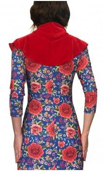 Red Velvet Flamenco Scarf w/ Ruffle