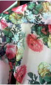 Floral Rose Crepe Leotard-Shirt