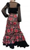 Stella Floral Flamenco Long-Skirt 4 Ruffles