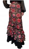 Falda Flamenco Stella Floral 4 Volantes