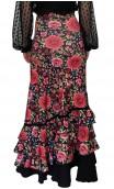 Saia Flamenca Stella Floral 4 Babados